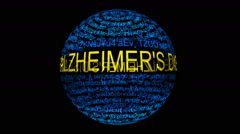Alzheimer disease spinning sphere Stock Footage