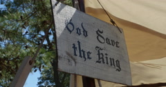 God Save the King Sign Revolutionary War Time England, 4K Stock Footage