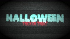 Halloween Haunted TV Stock Footage