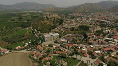 Sights of the town near the ruins of the Temple of Artemis, Turkey Stock Footage