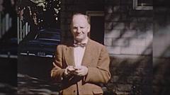 Old Man College Professor Teacher Academic Vintage Film Home Movie  Stock Footage
