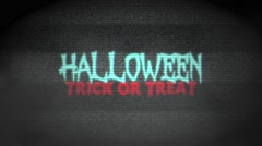 Spooky Halloween Haunted TV Stock Footage