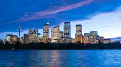 4k hyperlapse video of Sydney CBD from day to night Stock Footage