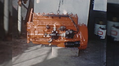 ENGINE REBUILD Machine Shop USA 1960s Vintage Film Home Movie 10343 Stock Footage