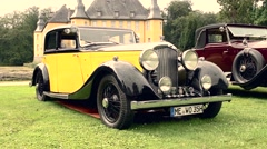 Bentley 3.5 L Parkward sports saloon 1934 vintage classic car Stock Footage