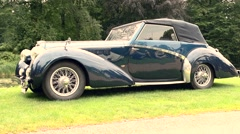 Talbot Lago T26 Record Drophead 1947 classic car Stock Footage