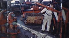 Machinist ENGINE REBUILD Machine Auto Repair 1960s Vintage Film Home Movie 10336 Stock Footage
