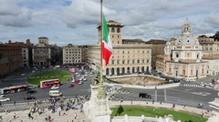Aerial view of the panorama of Rome Stock Footage
