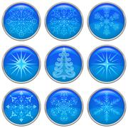 Christmas buttons, set Stock Illustration