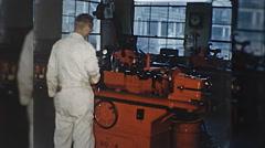 Machinist ENGINE REBUILD Machine Shop MAN 1960s Vintage Film Home Movie 10328 Stock Footage
