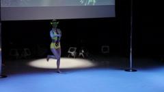 Alisa Baldina Pole Dance Stock Footage