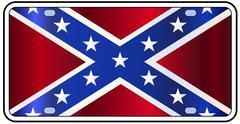 Rebel Flag License Plate Stock Illustration