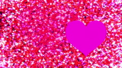 Pink and red hearts scatter Stock Footage