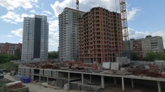 Construction and building house Stock Footage