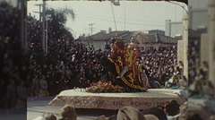 Knights of the Round Table Float Girls Rose Parade Vintage Film Home Movie  Stock Footage