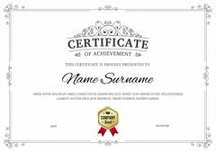 Certificate of achievement vector template background. Stock Illustration