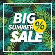 Seasonal big summer sale business background Stock Illustration