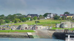 A landscape view of the Killimer village Stock Footage
