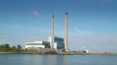 The view of the factory in Killimer Ireland Stock Footage