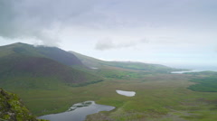The landscape view of the mountains in Ireland Stock Footage