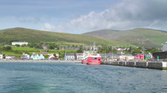 The coastal port in Dingle Village in Ireland Stock Footage
