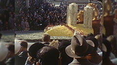 Pittsburg PA Float Rose Parade Tournament Roses Vintage Film Home Movie  Stock Footage