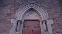The big door of the big castle in Dingle Stock Footage