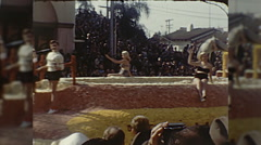 Las Vegas Girls Rose Parade Tournament of Roses Vintage Film Home Movie  Stock Footage