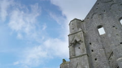 Outside the Rock of Cashel in Ireland Stock Footage