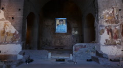 Rome ancient underground Christian Church icon Stock Footage