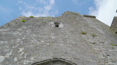 The front view of the Rock of Cashel castle Stock Footage