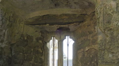 One of the windows inside the Rock of Cashel Stock Footage