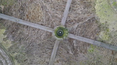 Rotating view of the ceiling of the Rock of Cashel Stock Footage