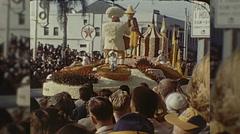 Simple Simon Float Pieman Rose Parade Pasadena Vintage Film Home Movie  Stock Footage