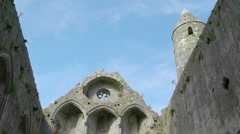 One of the ruins inside the Rock of Cashel Stock Footage