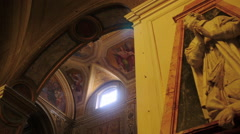 Rome Catholic Church interior Stock Footage