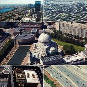 Aerial view of Boston, MA, USA Collage of photos Kuvituskuvat