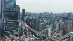 TOKYO Panoramic view of buildings in Shibuya. It is one of the Stock Footage