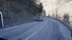 Driving on winding roads that cross the mountains  Stock Footage