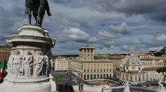 ROME panorama roofs 1 Stock Footage