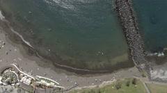Overhead view of Playa de las Americas in Tenerife, Canary Islands Stock Footage