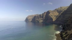 Los Gigantes, Tenerife. Aerial view of gigantic cliffs Stock Footage