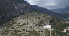 Gosol Ancient Ruins, Catalonia Stock Footage