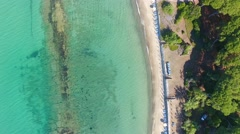 Overhead view of Torre Mozza Beach, Italy Stock Footage