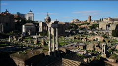 Rome panorama of ancient ruins Stock Footage