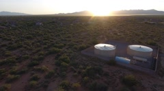 Aerial view of water tanks Stock Footage