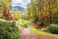 Beautiful autumn city landscape. Baden Baden. Germany Stock Photos
