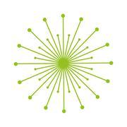 Dandelion seed decoration icon Stock Illustration