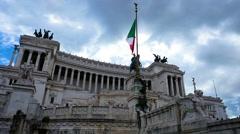 Venetian Palace Rome Stock Footage