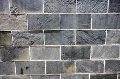 Bluish stone wall Stock Photos
